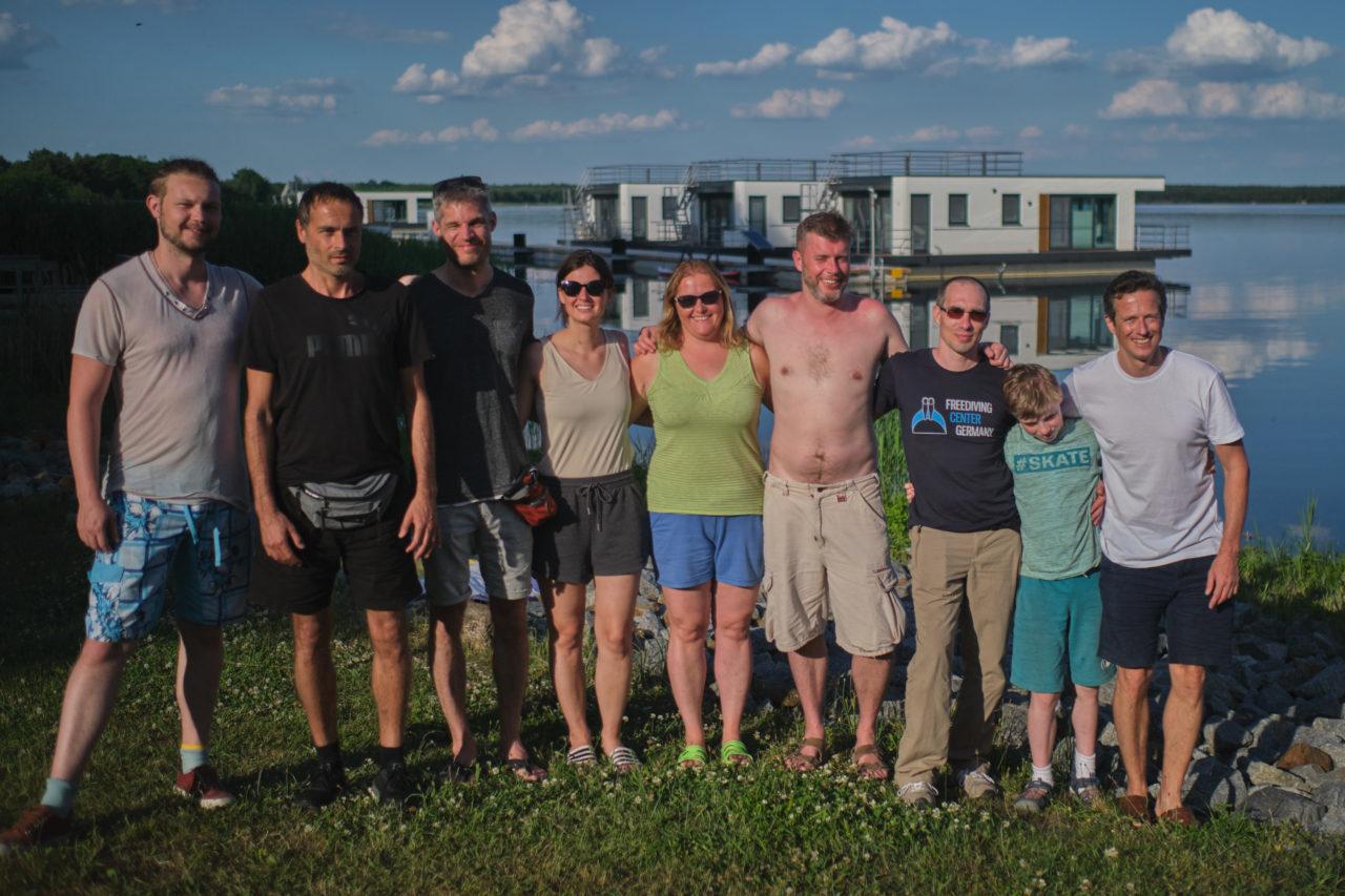 Die erste Freediver-Gruppe aus Berlin, Sachsen und Mecklenburg-Vorpommern